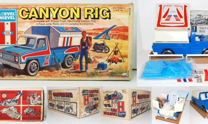 1975 Evel Knievel Canyon Rig Play Set